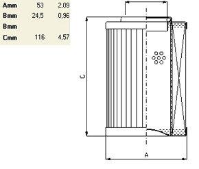 Фильтроэлемент гидравлический по типу IN LINE до 240 л/мин