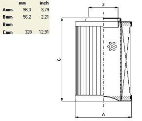 Характеристики гидравлического фильтроэлемента по типу IN LINE до 1000 л/мин
